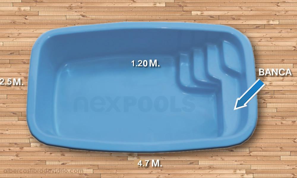 Cat logo piscinas confort albercas fibra de vidrio for Diseno de piscinas en fibra de vidrio
